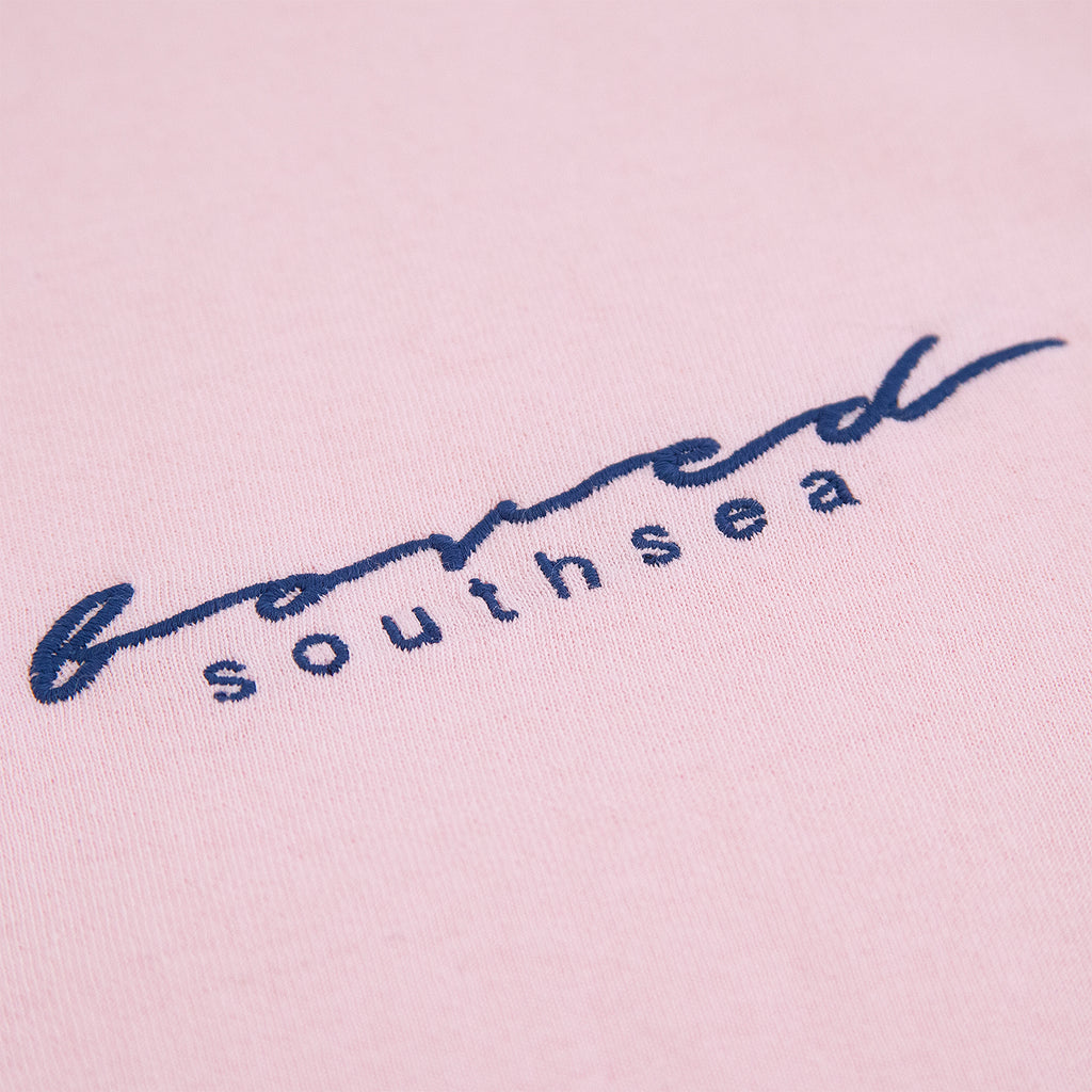 Bored of Southsea Script T Shirt in Pink - Embroidery