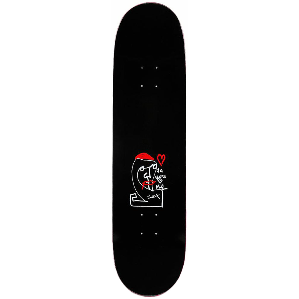 "Sex Skateboards Do You Black Skateboard Deck in 8.38"" - Top"