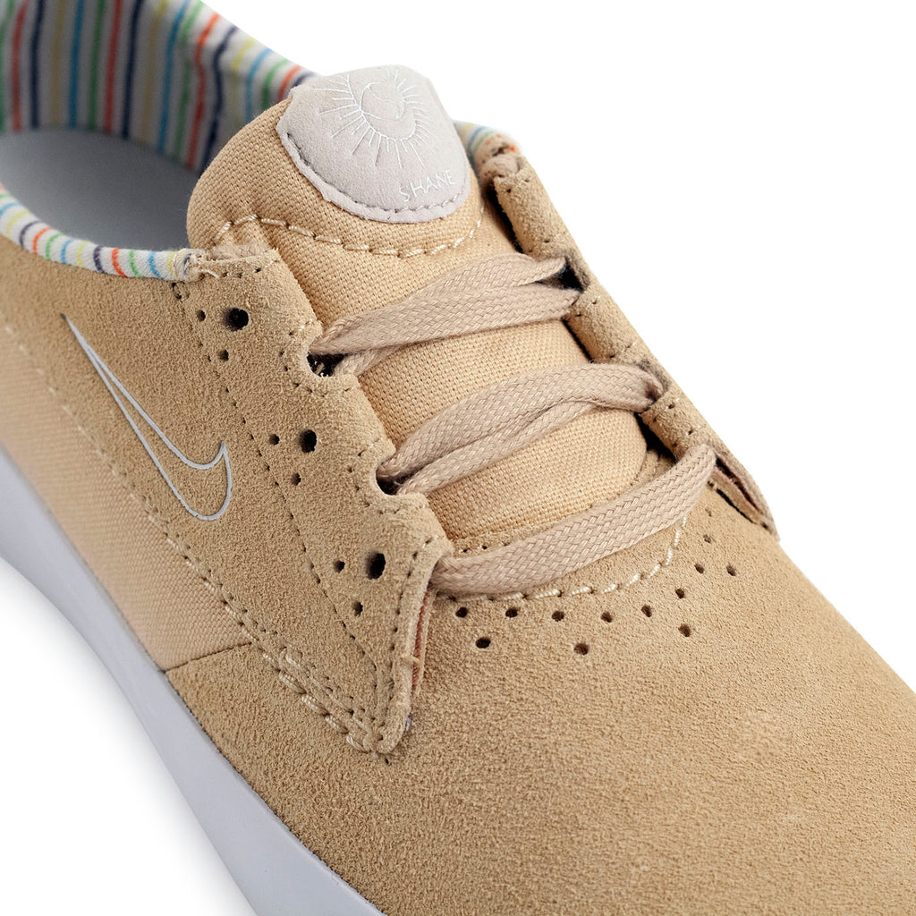 Nike SB Shane Shoes in Sesame / White - Light Orewood Brown - Detail