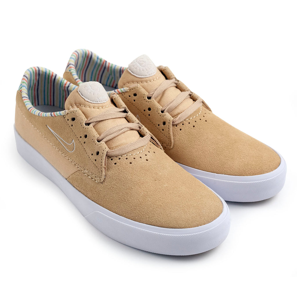 Nike SB Shane Shoes in Sesame / White - Light Orewood Brown - Pair