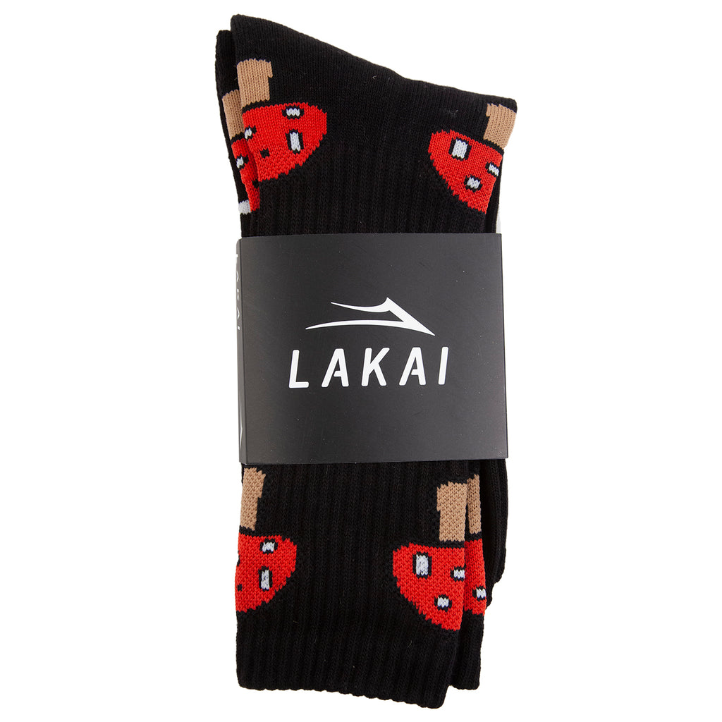 Lakai Shroom Crew Sock in Black