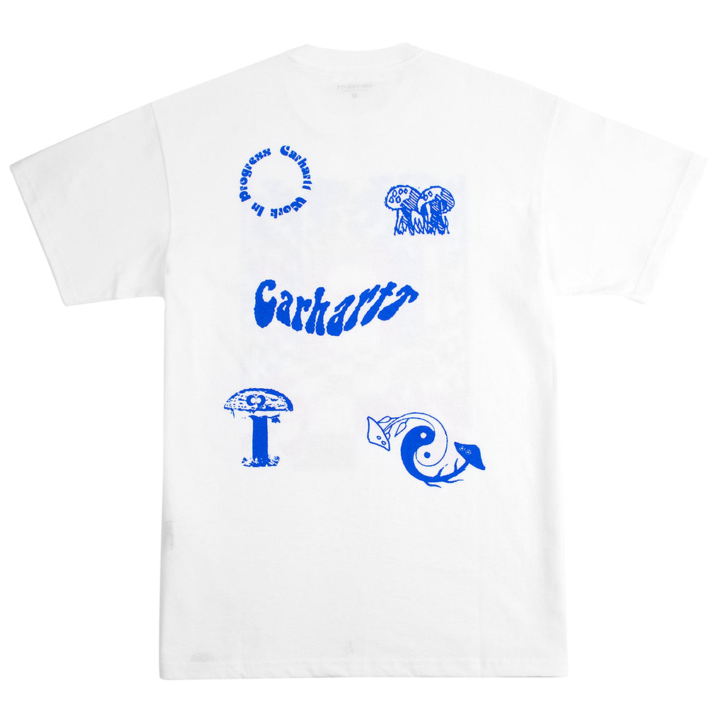 Carhartt WIP Shroom T Shirt in White - Back Print