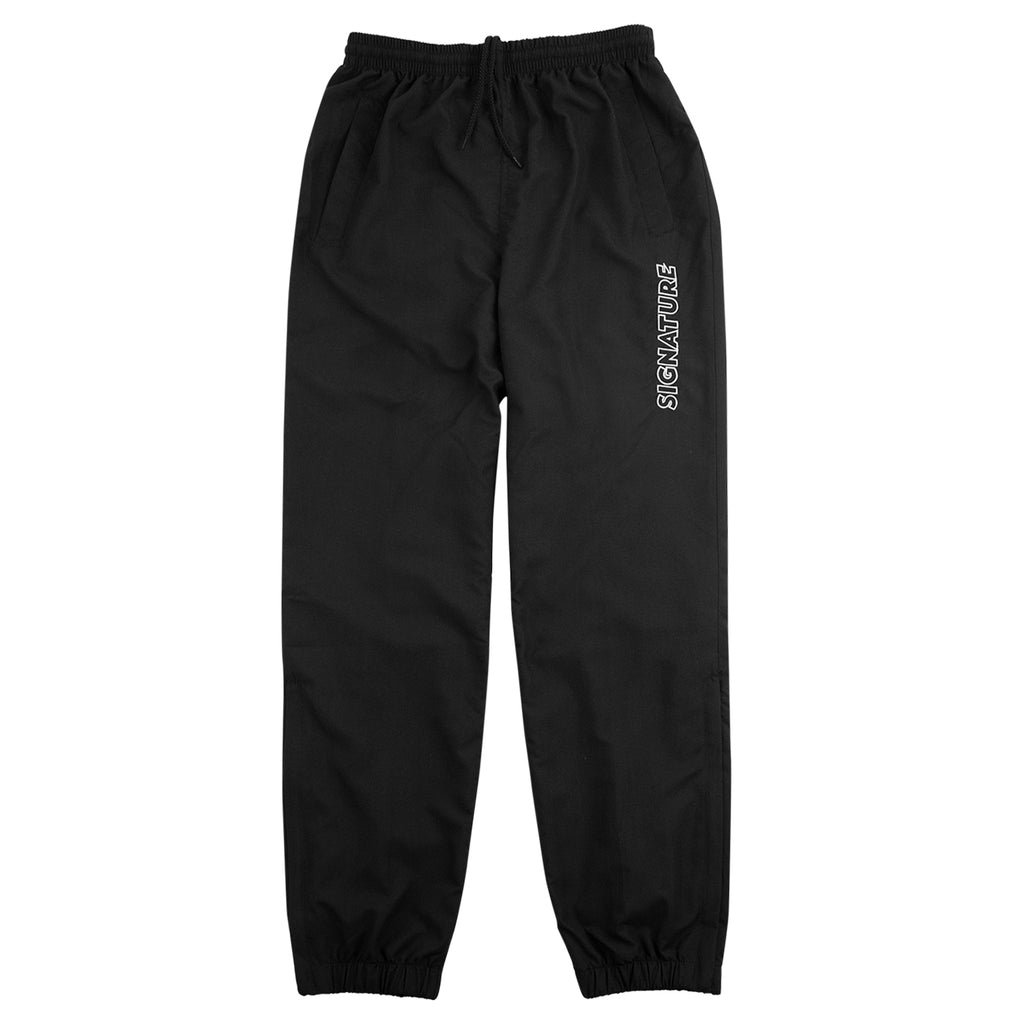 Signature Clothing Outline Logo Embroidered Tracksuit Pants in Black / White - Open