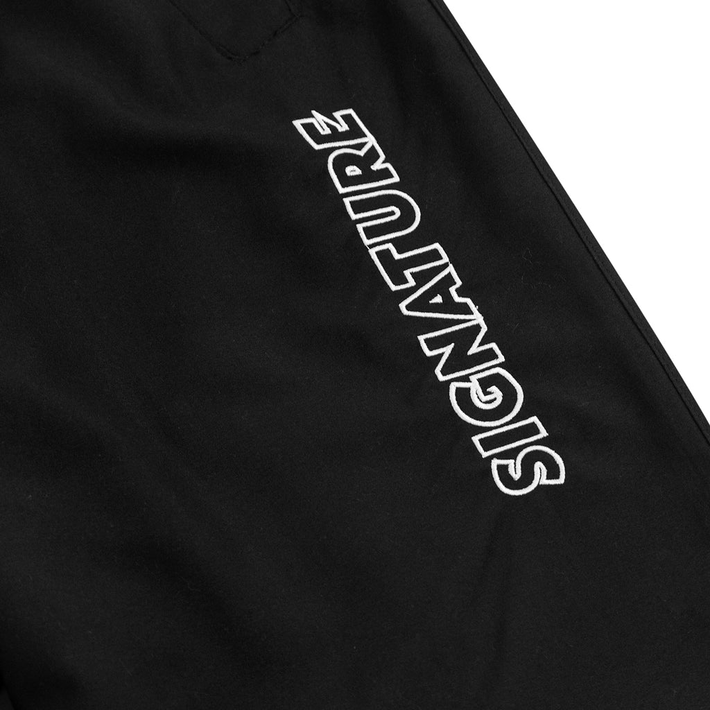 Signature Clothing Outline Logo Embroidered Tracksuit Pants in Black / White - Embroidery