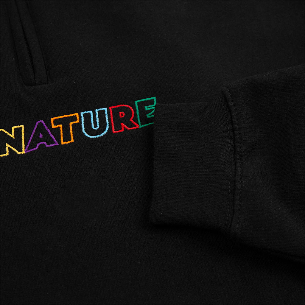 Signature Clothing Outline Logo 1/4 Zip Sweatshirt - Black / Multi