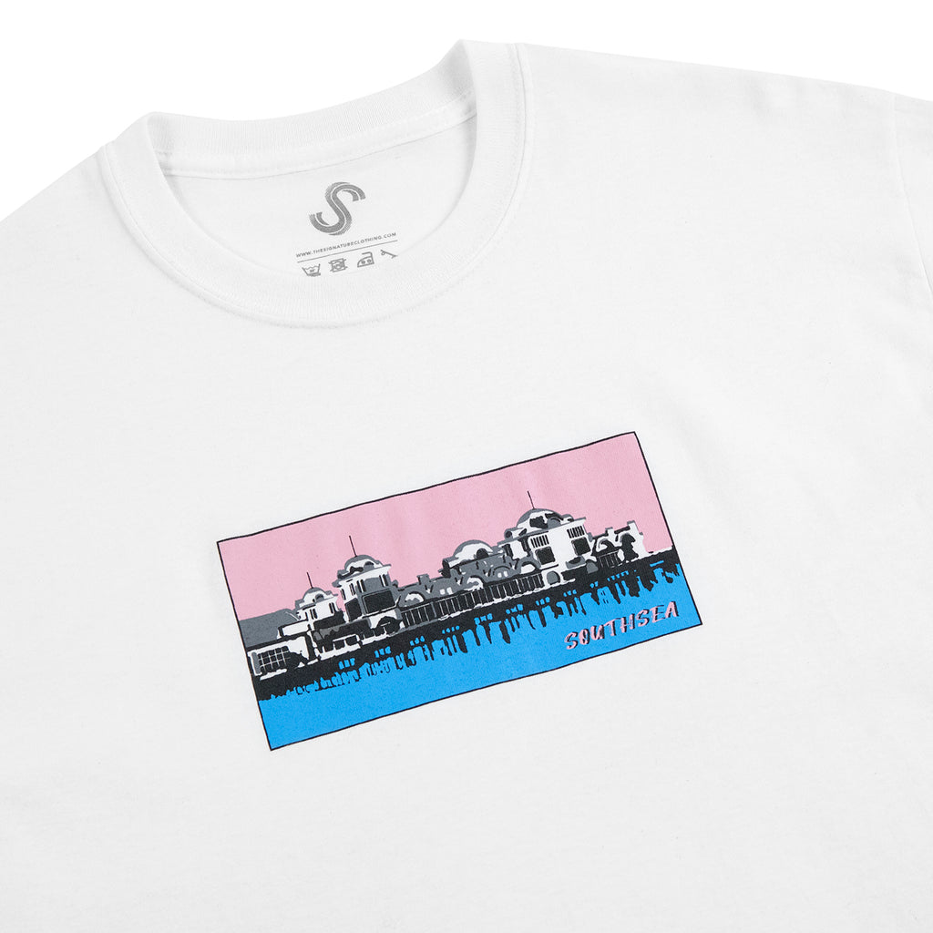 Signature Clothing Southsea Pier T Shirt in White - Detail