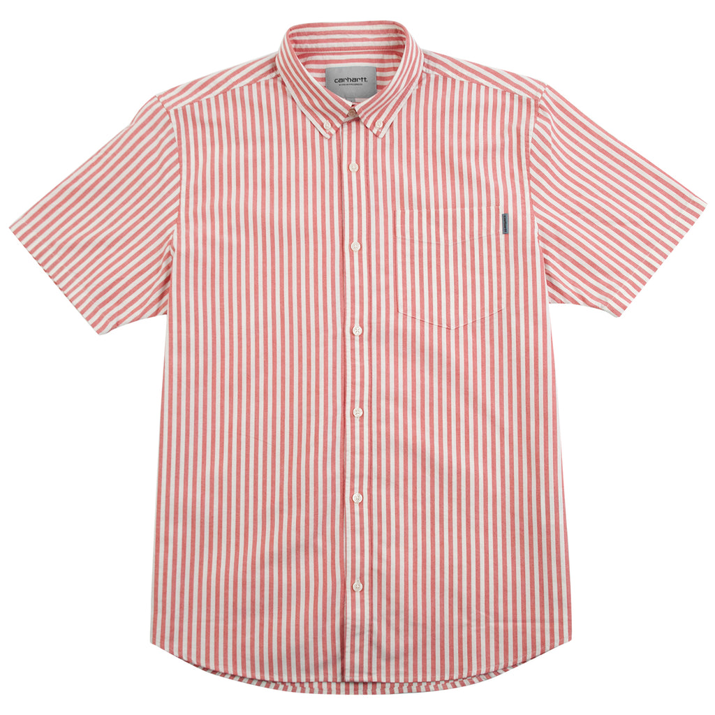 Carhartt WIP S/S Simon Shirt in Etna Red