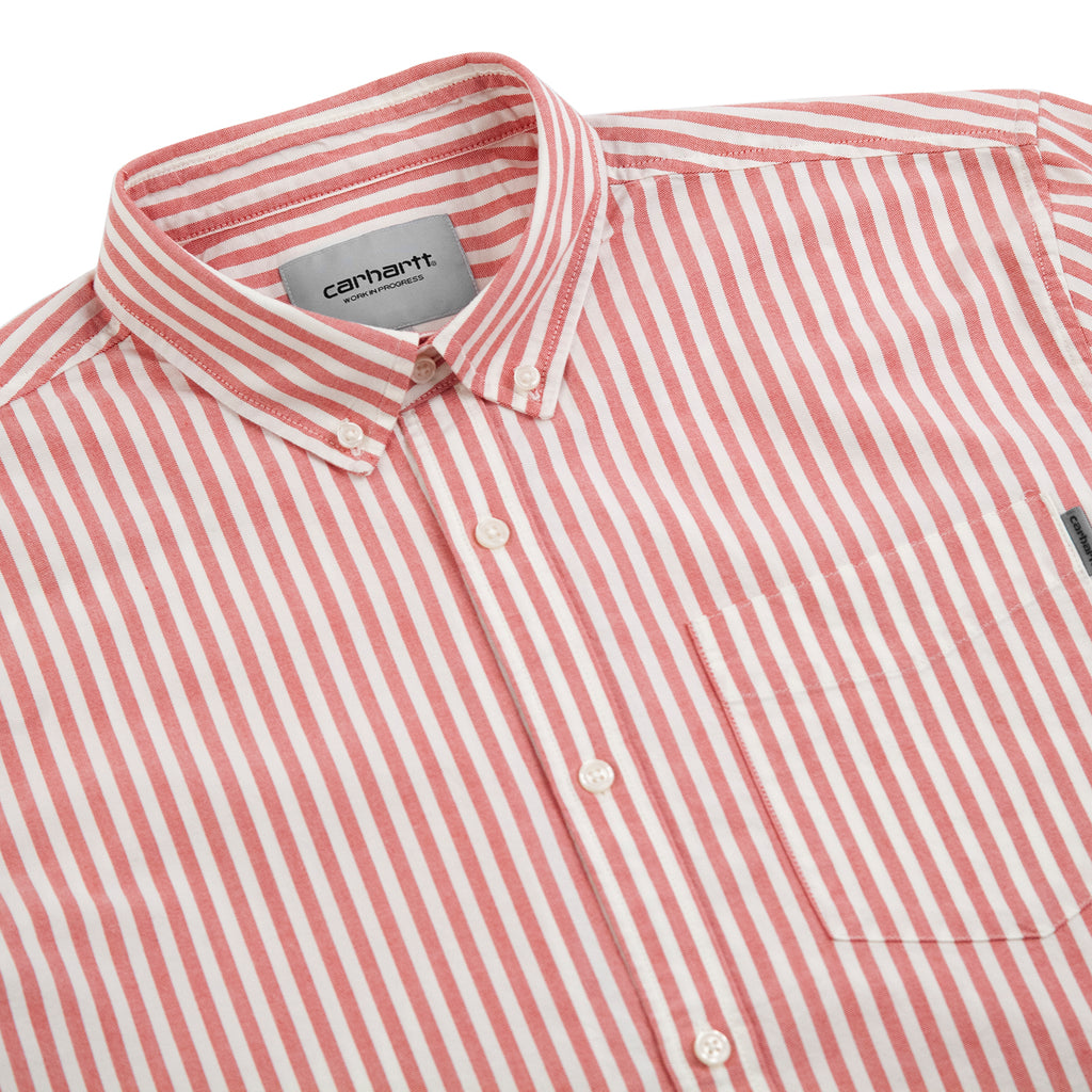 Carhartt WIP S/S Simon Shirt in Etna Red - Detail