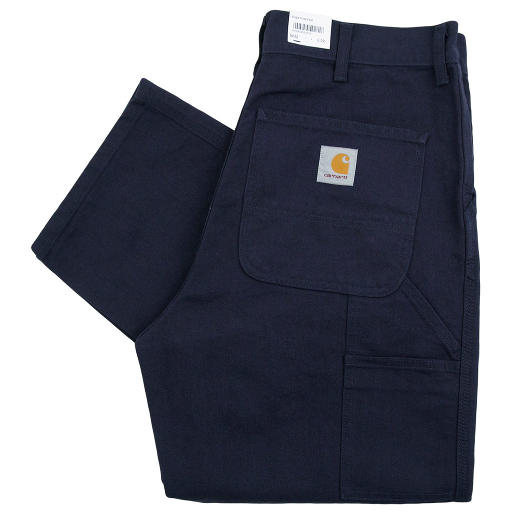 Carhartt WIP Single Knee Pant in Dark Navy