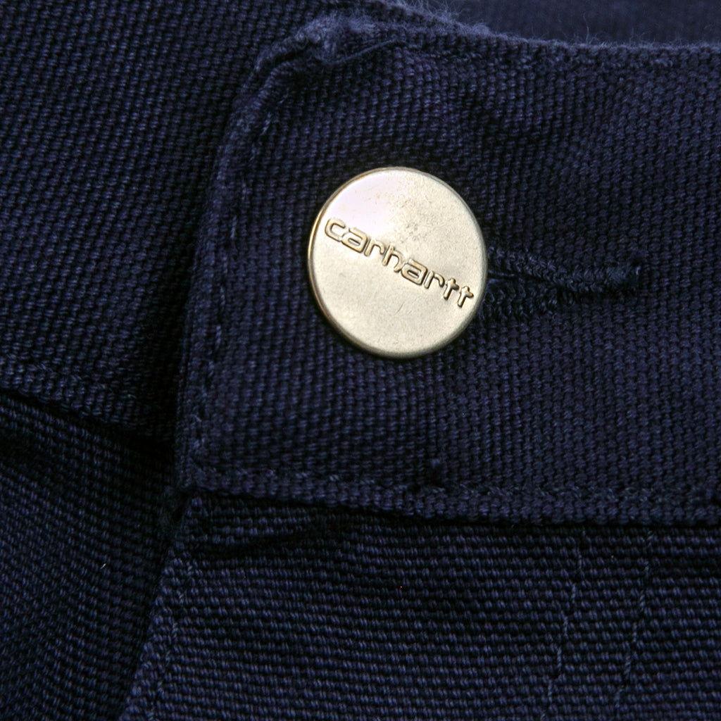 Carhartt WIP Single Knee Pant in Dark Navy - Button