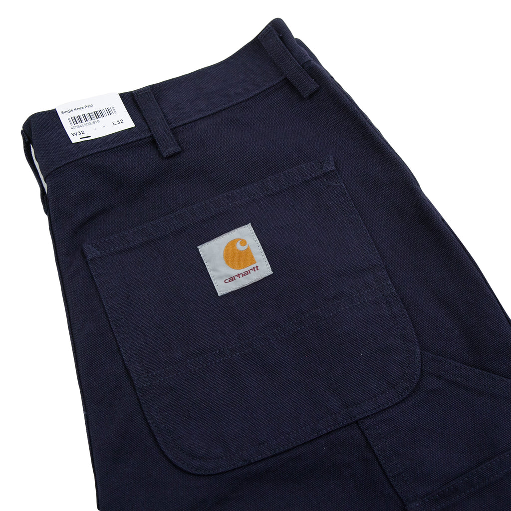 Carhartt WIP Single Knee Pant in Dark Navy - Pocket