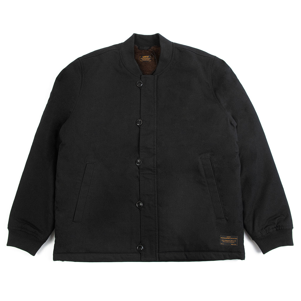 Levis Skateboarding Skate Pile Jacket in Jet Black Canvas