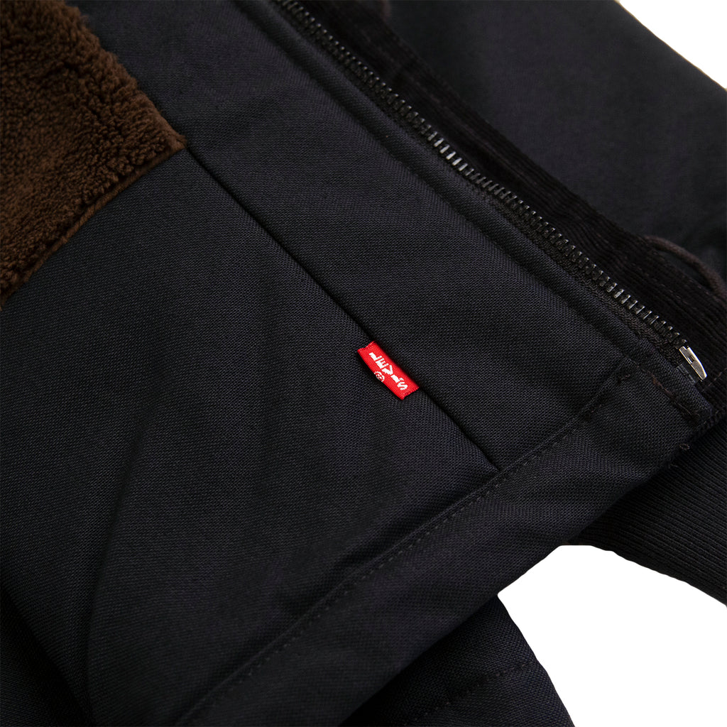 Levis Skateboarding Skate Pile Jacket in Jet Black Canvas - Levis Label