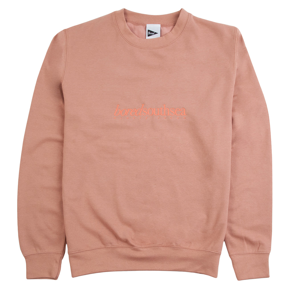 Bored of Southsea Hammer Sweatshirt in Dusty Pink / Pink