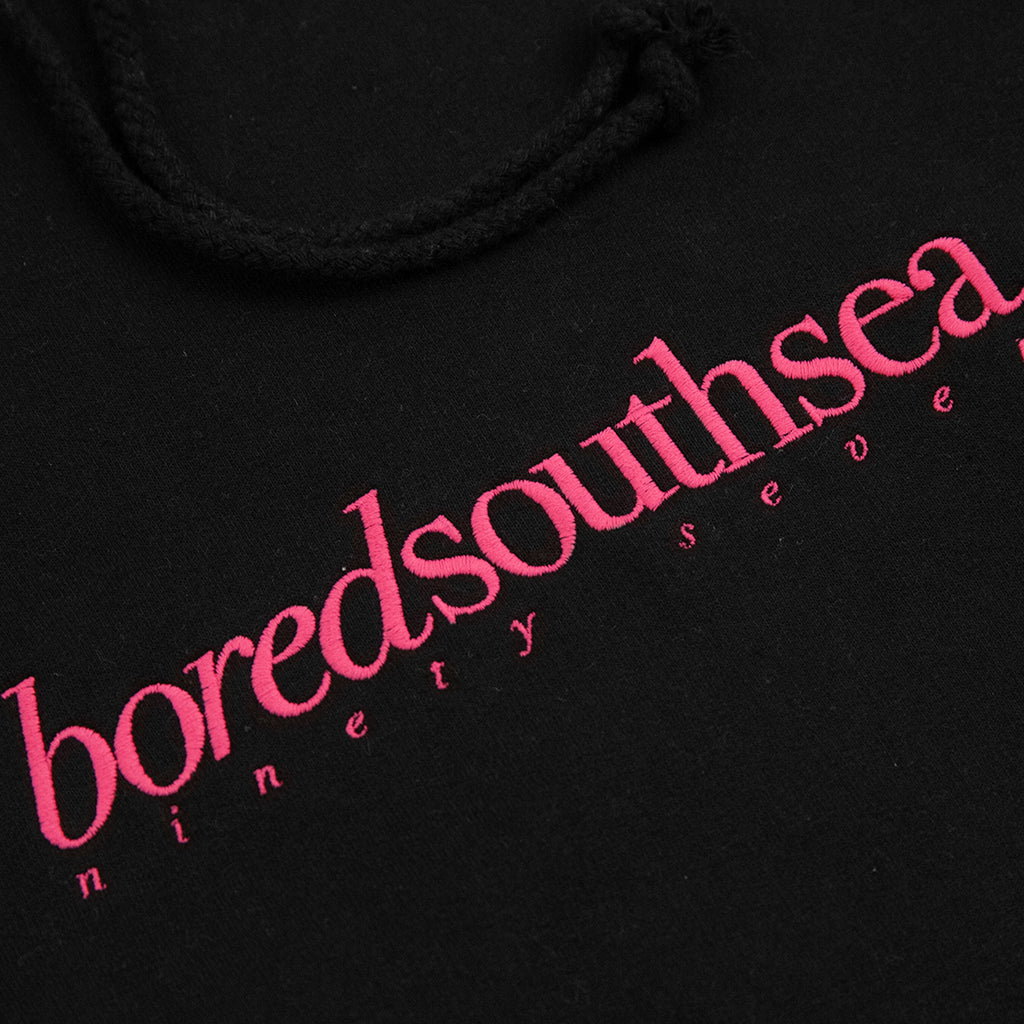Bored of Southsea Hammer Hoodie in Black / Pink - Embroidery