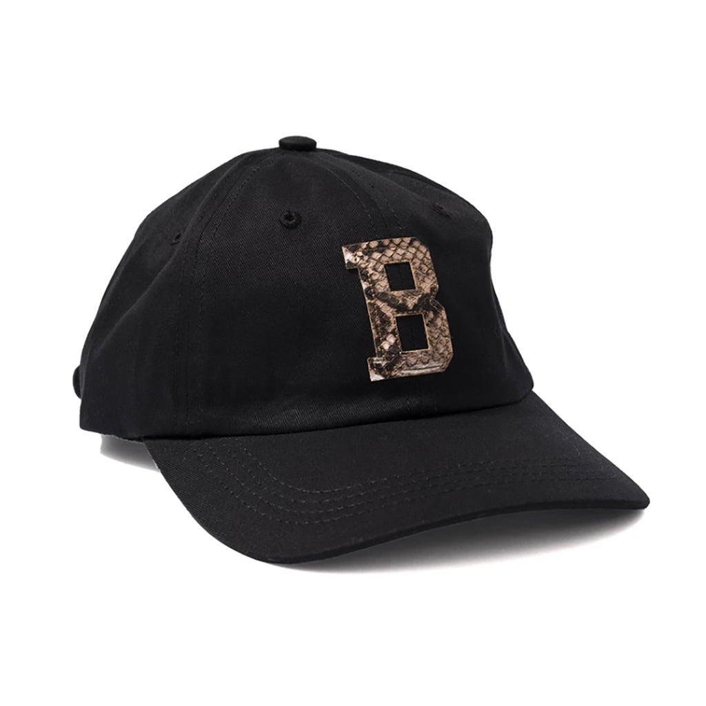 Bronze 56k Snake Skin B Hat in Black