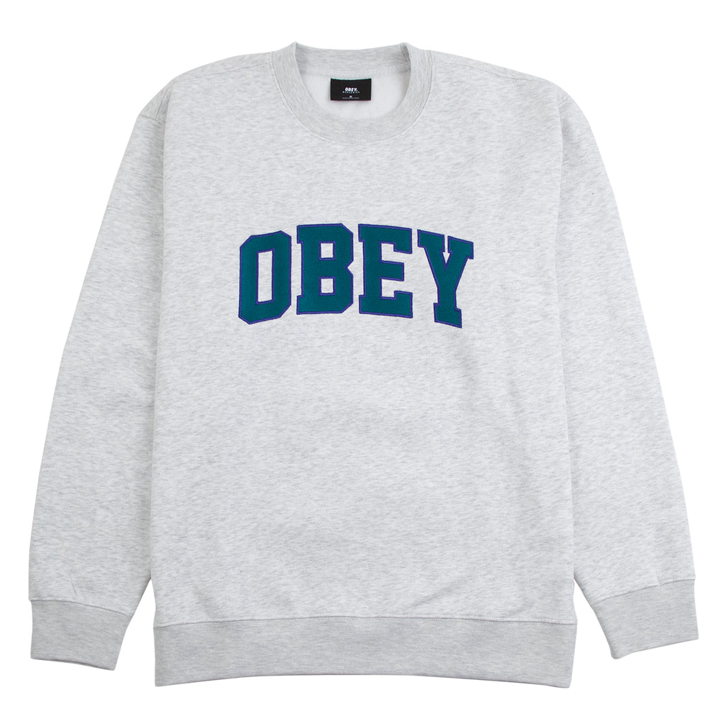 Obey Clothing Obey Sports II Crew Sweatshirt in Ash Grey
