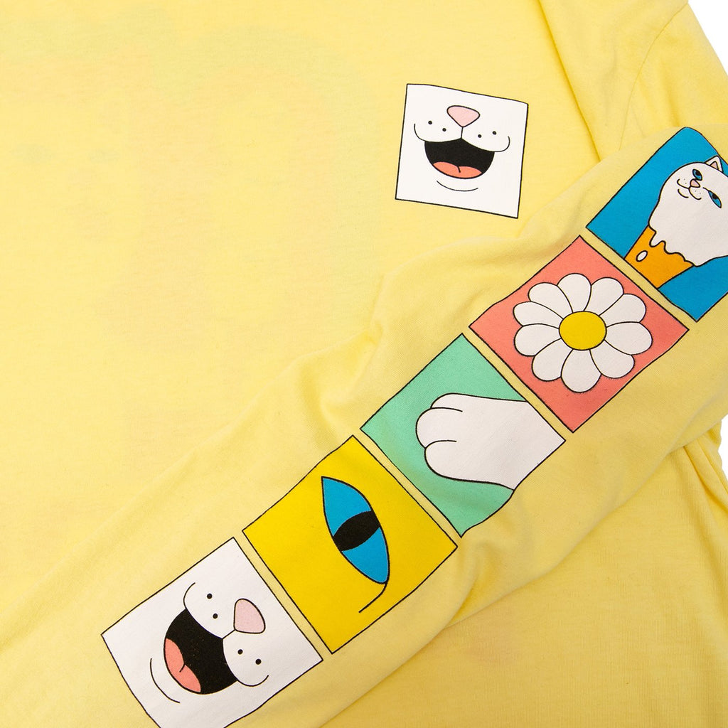 RIPNDIP L/S Lick Me T Shirt in Banana - Sleeve detail
