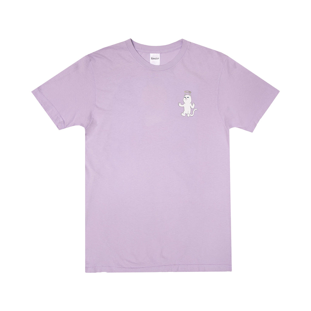 RIPNDIP Halo T Shirt in Purple Mineral Wash - Front