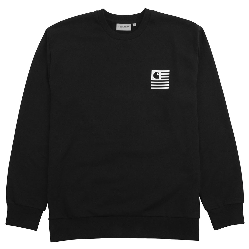 Carhartt WIP State Chromo Sweatshirt in Black - Front