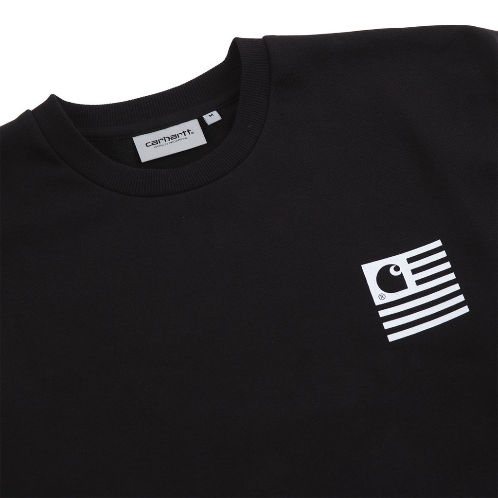 Carhartt WIP State Chromo Sweatshirt in Black - Detail