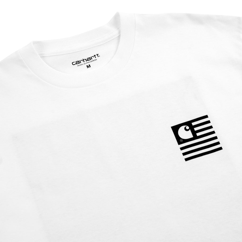 Carhartt WIP State Chromo T Shirt in White - Detail