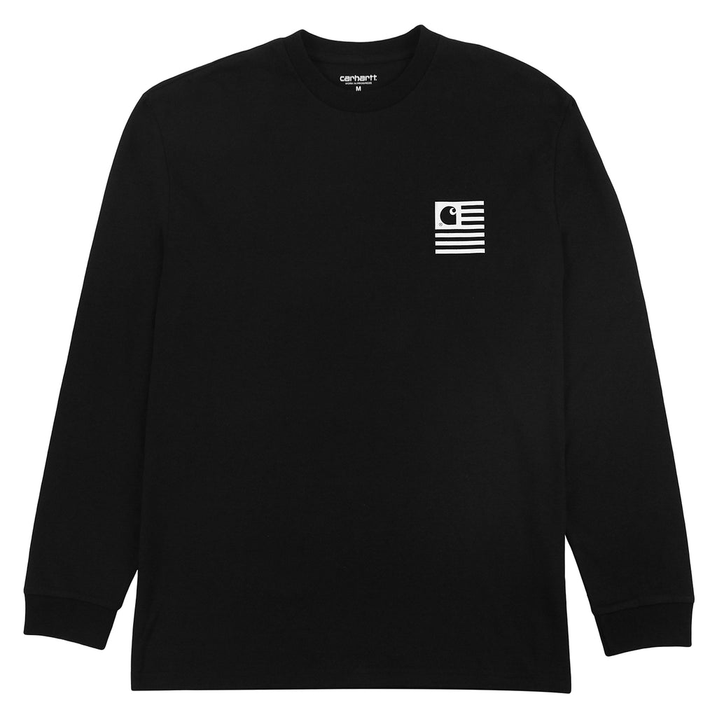 Carhartt L/S State Patch T Shirt in Black