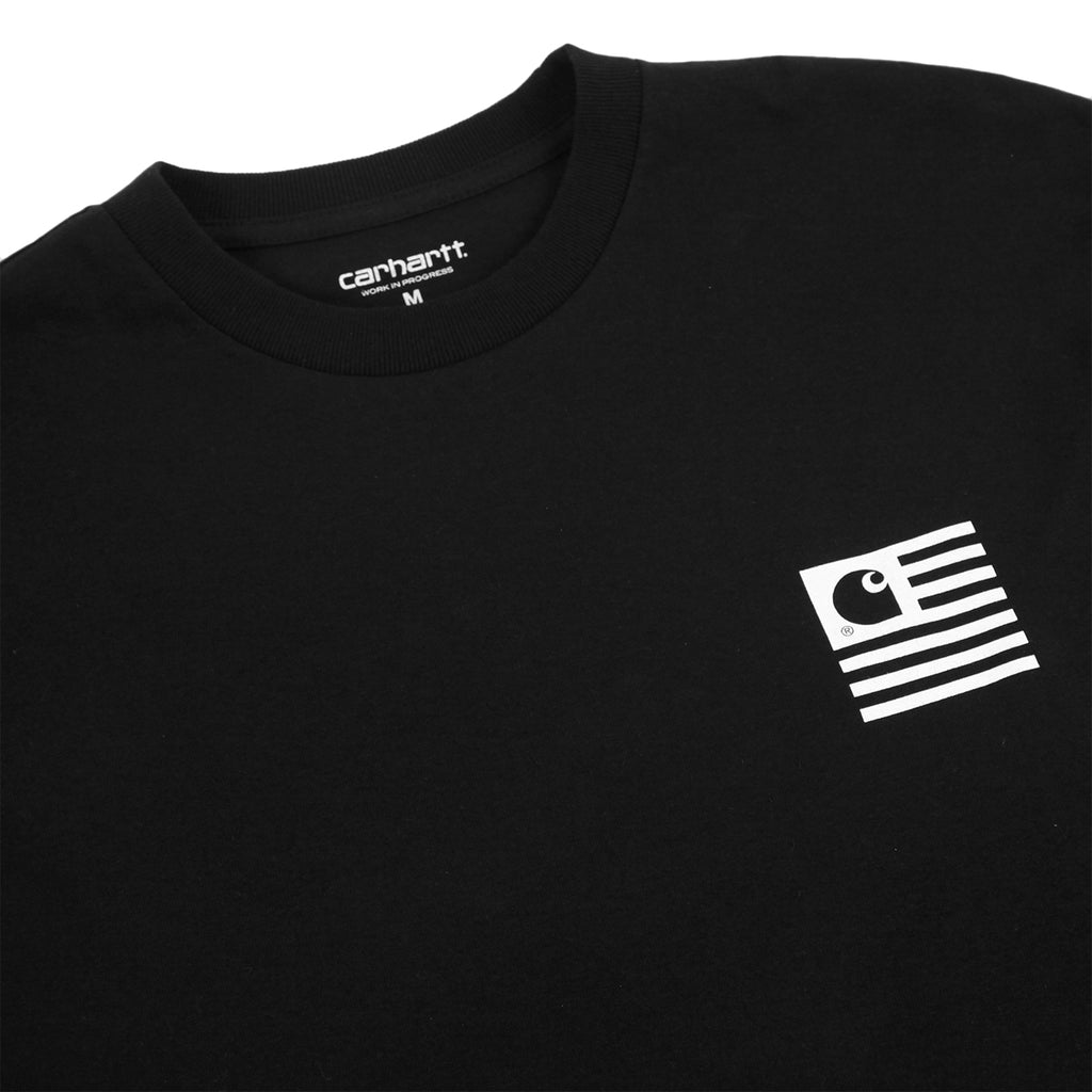 Carhartt L/S State Patch T Shirt in Black - Detail