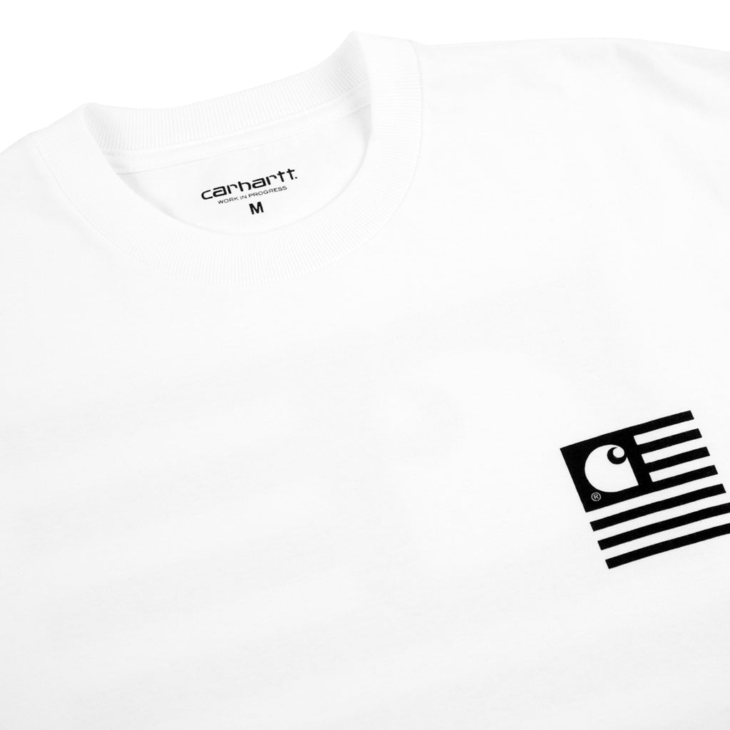 Carhartt State Patch T Shirt in White - Detail