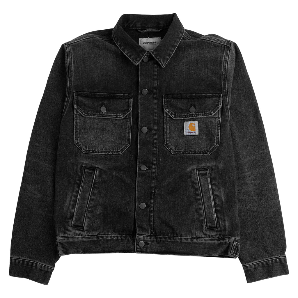 Carhartt WIP Stetson Jacket in Black Mid Worn Wash