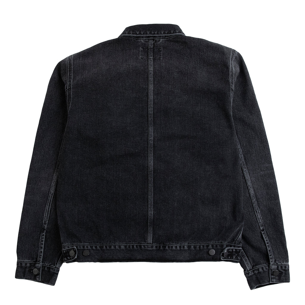 Carhartt WIP Stetson Jacket in Black Mid Worn Wash - Back Pocket