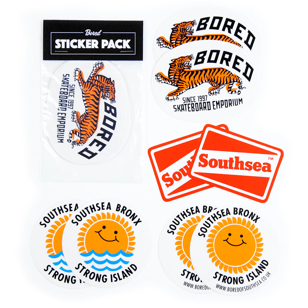 Bored of Southsea Sticker Pack