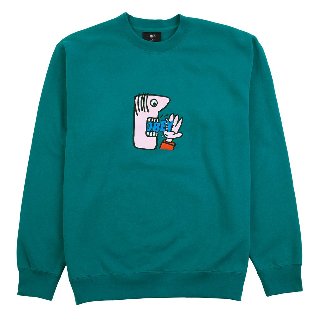 Obey Clothing Still Hungry Sweatshirt in Eucalyptus