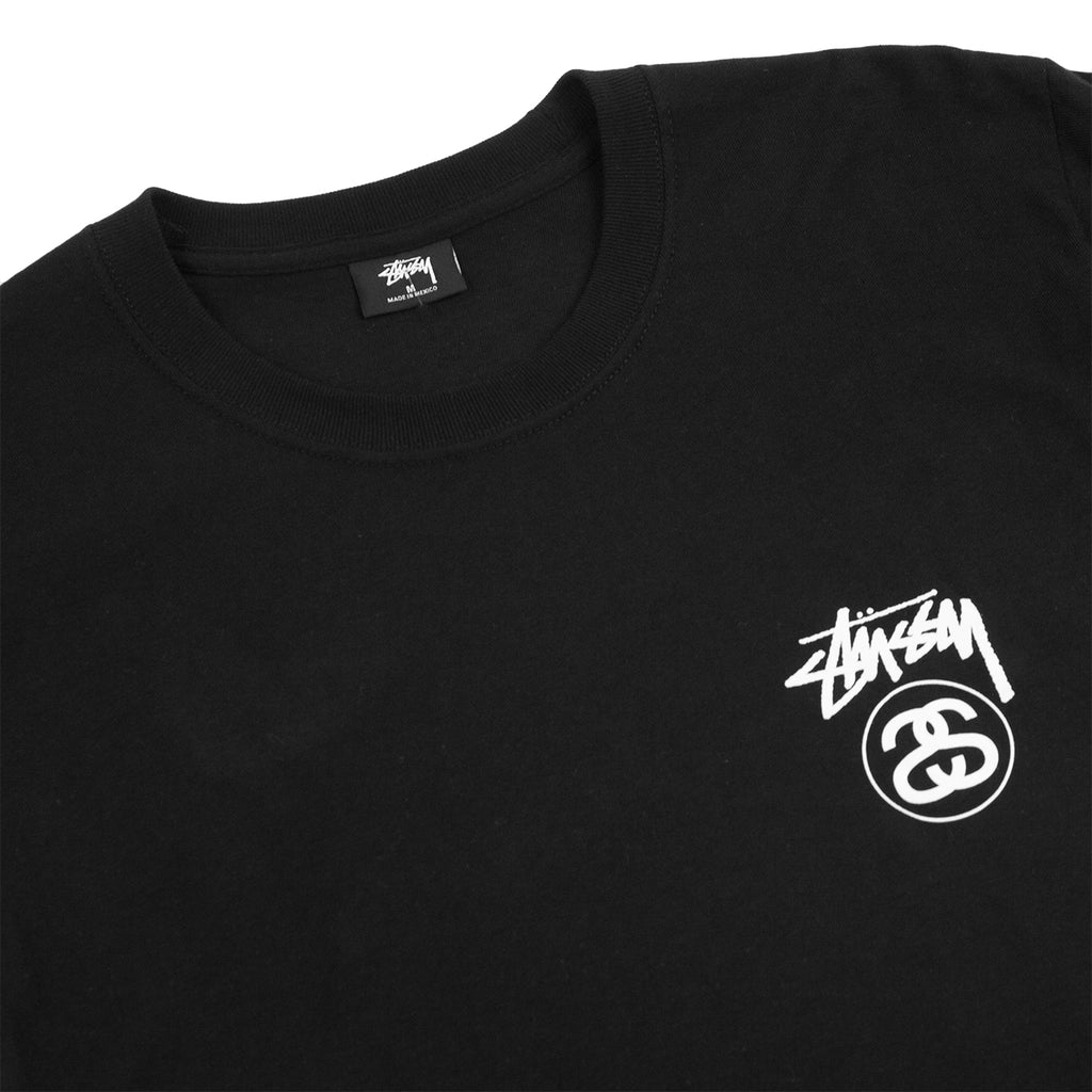 Stussy Stock Link T Shirt in Black - Detail