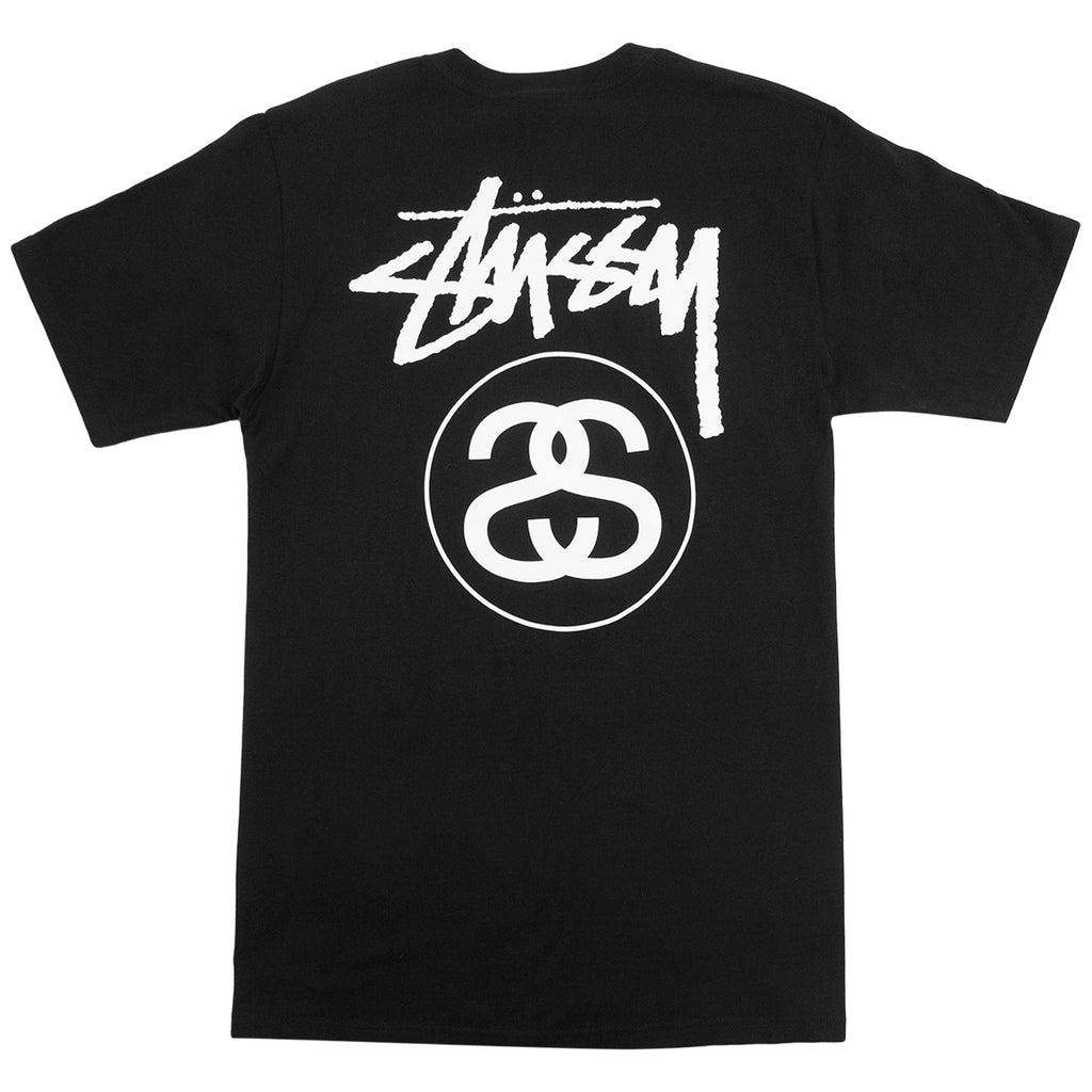Stussy Stock Link T Shirt in Black