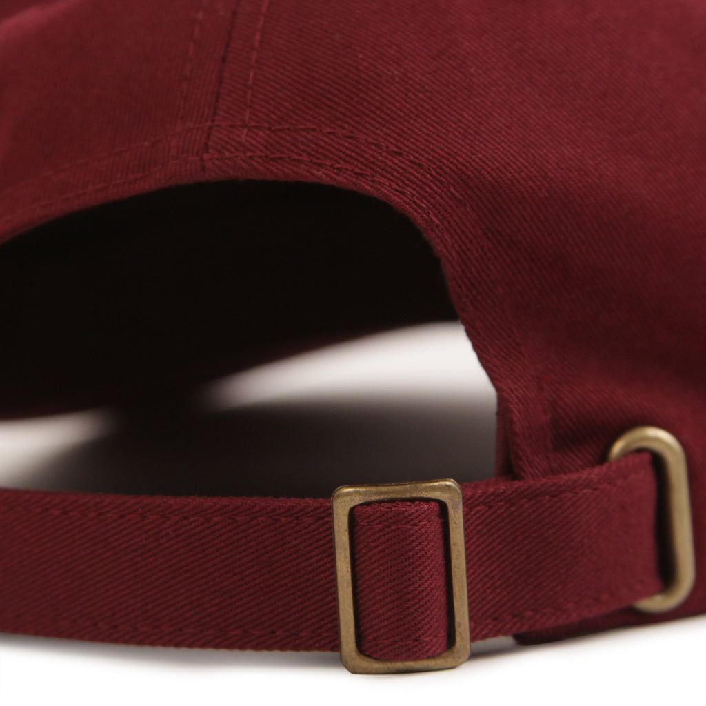 Stussy Stock Low Pro Cap in Burgundy - Buckle