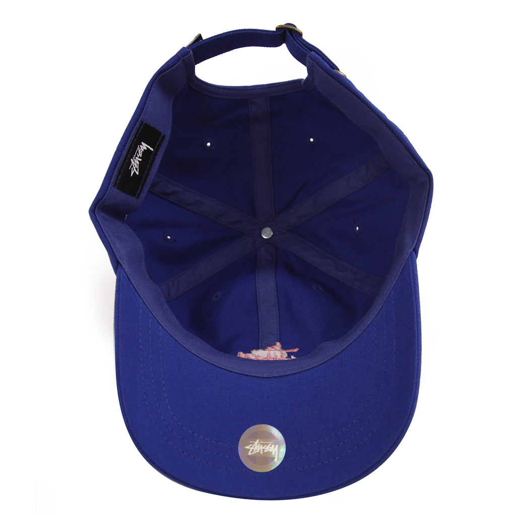 Stussy Stock Low Pro Cap in Royal - Inside