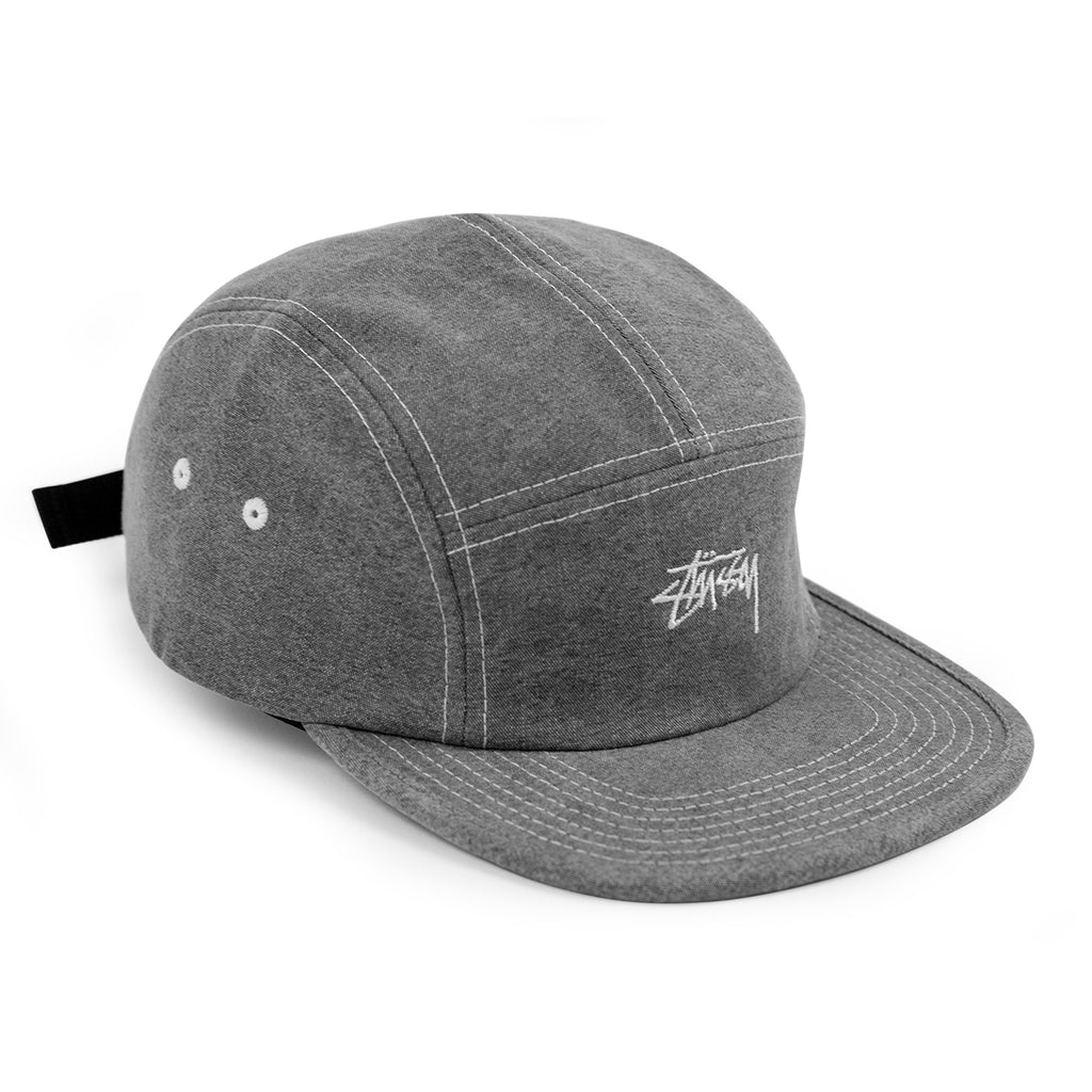 Stussy Stock Washed Canvas Camp Cap in Grey