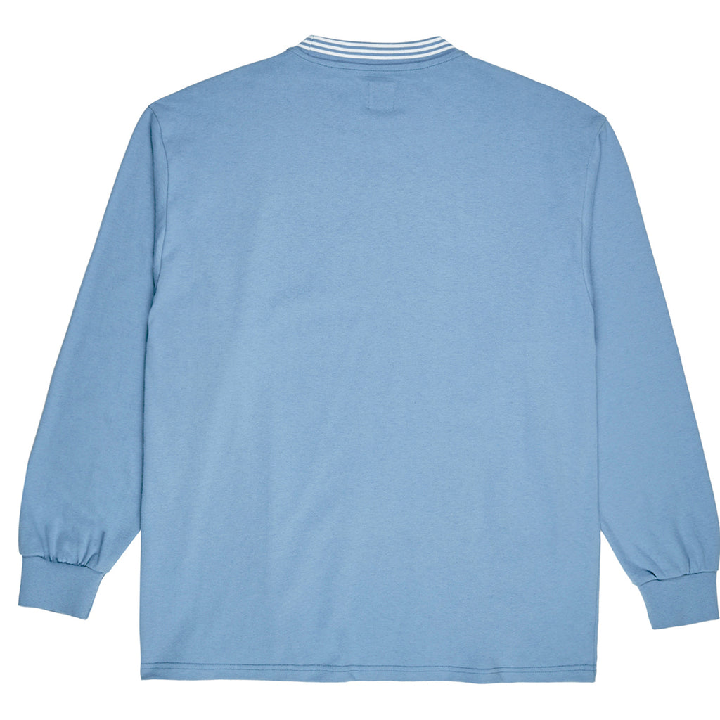 Polar Skate Co L/S Striped Rib T Shirt in Blue - Back
