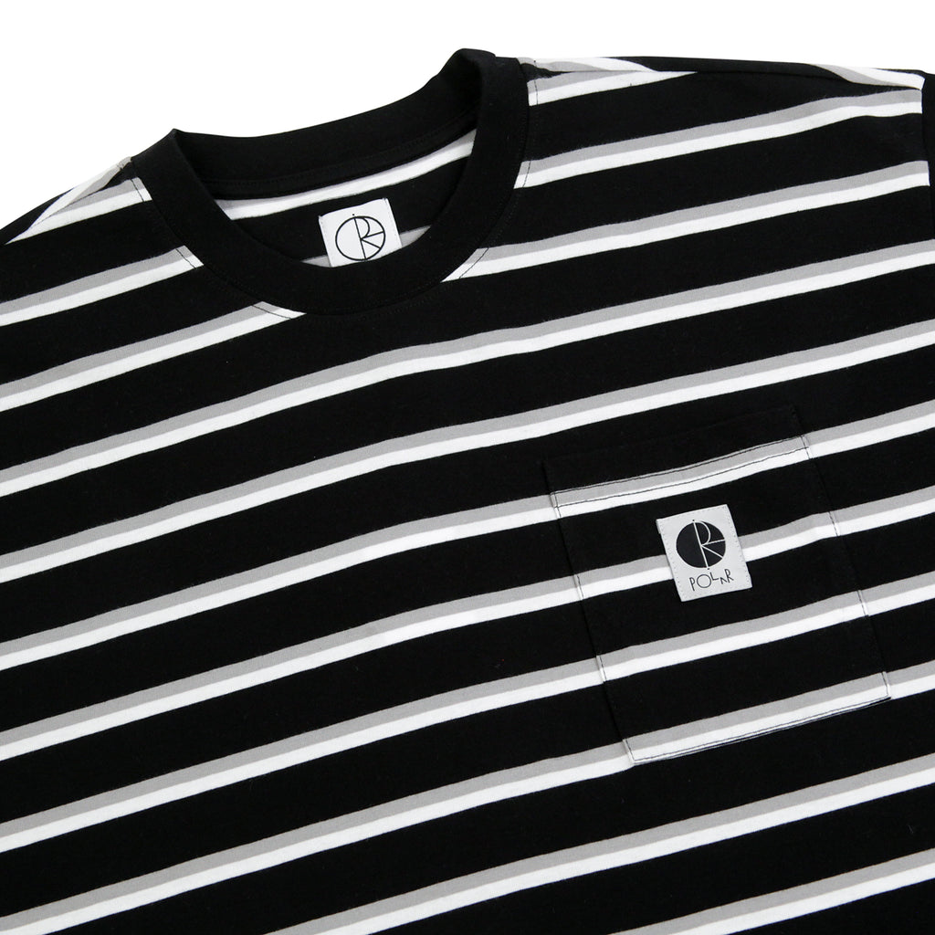 Polar Skate Co Stripe Pocket T Shirt in Black - Detail