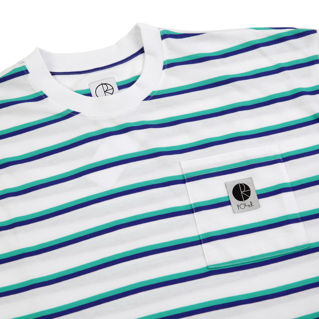 Polar Skate Co Stripe Pocket T Shirt in White - Detail
