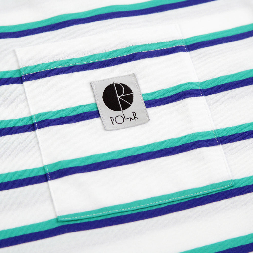 Polar Skate Co Stripe Pocket T Shirt in White - Pocket
