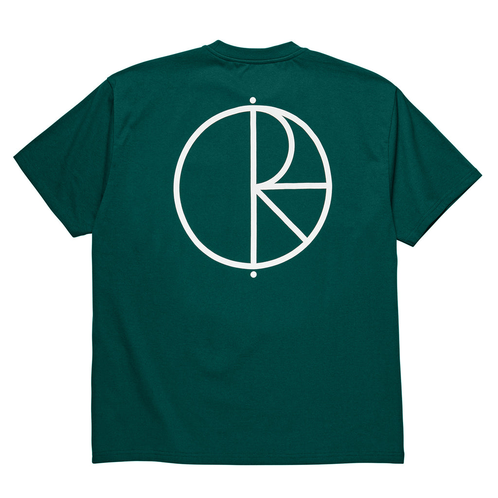 Polar Skate Co Stroke Logo T Shirt in Dark Green