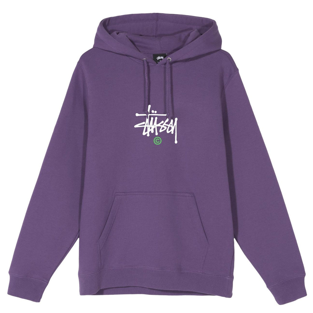 Stussy Copyright APP Hoodie in Purple