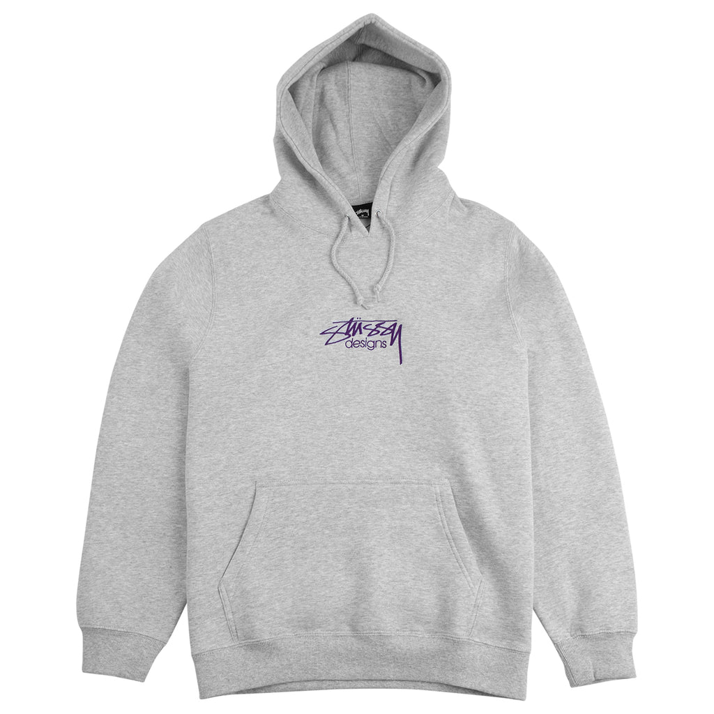 Stussy Design Hoodie in Ash Heather