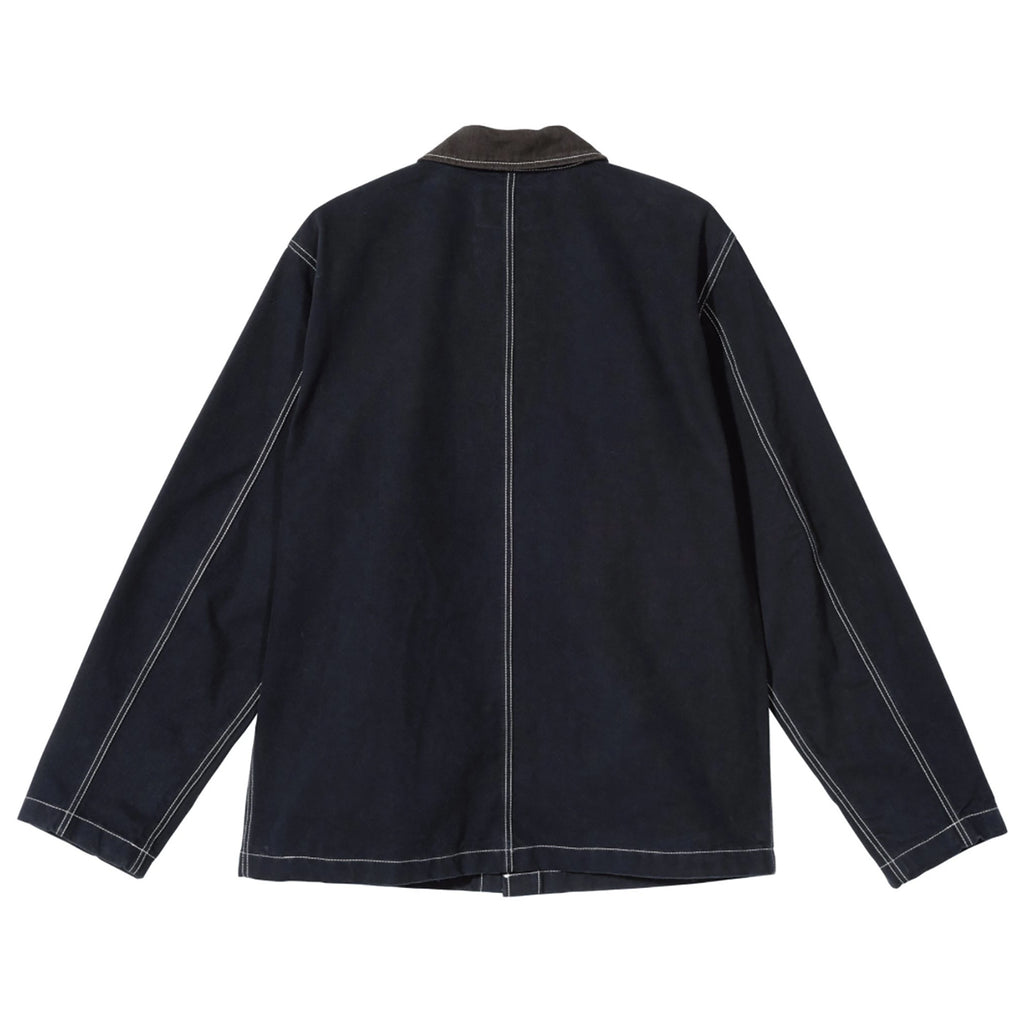 Stussy Brushed Moleskin Chore Jacket in Navy - Back