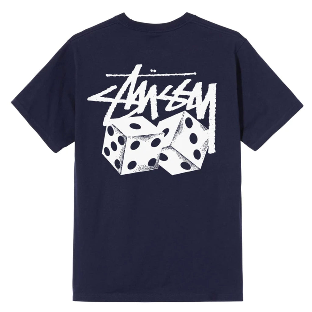 Stussy Pair of Dice T Shirt in Navy