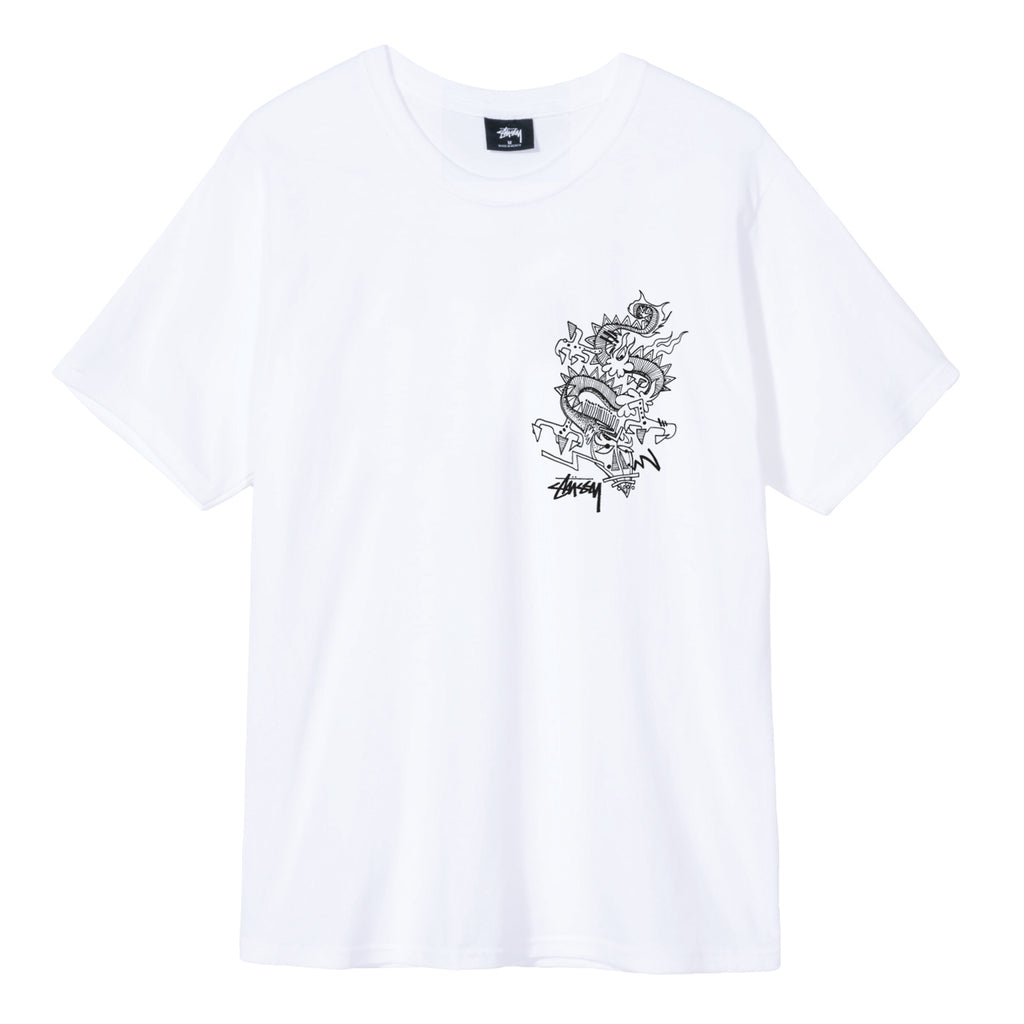 Stussy Funky Tribe T Shirt in White - Front