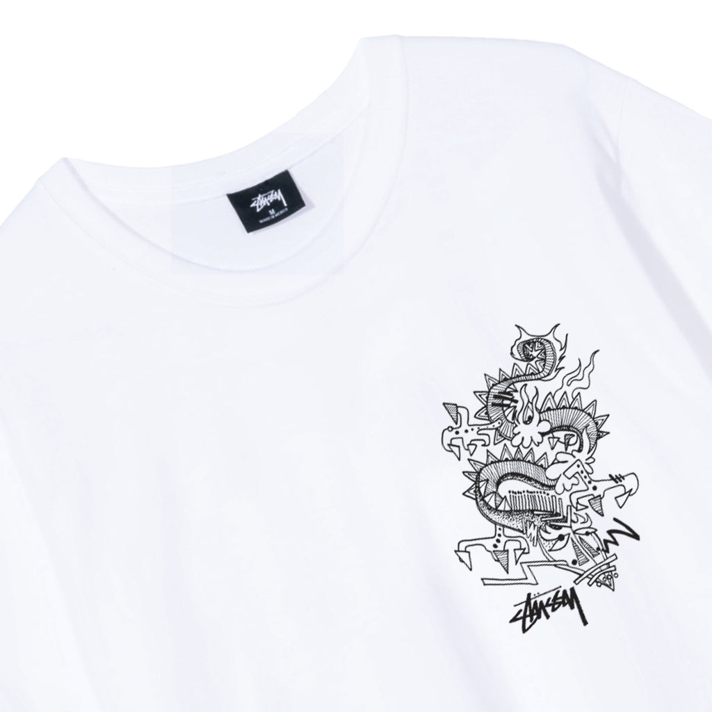 Stussy Funky Tribe T Shirt in White - Detail