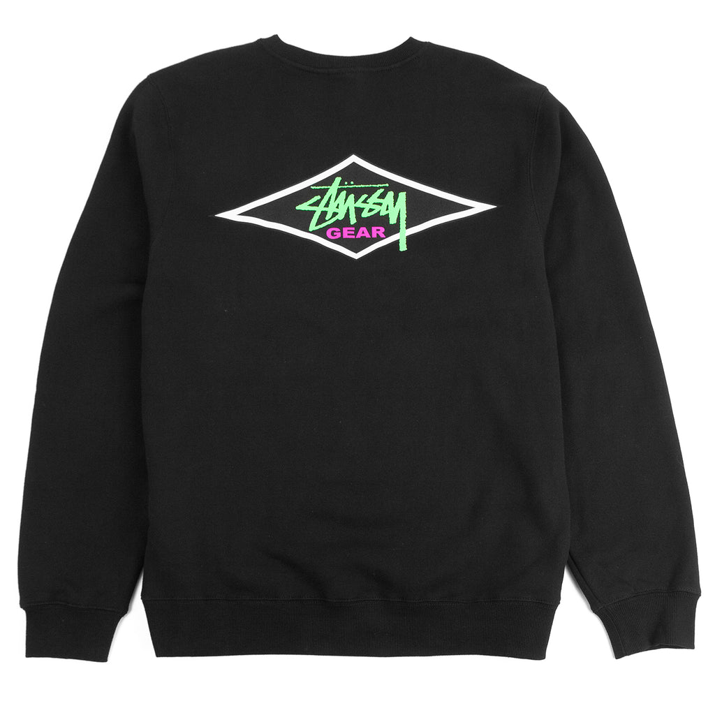 Stussy Gear Crew Sweatshirt in Black